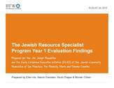 JRS Year 1 Eval Findings
