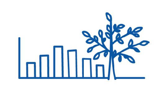 Tree bar chart