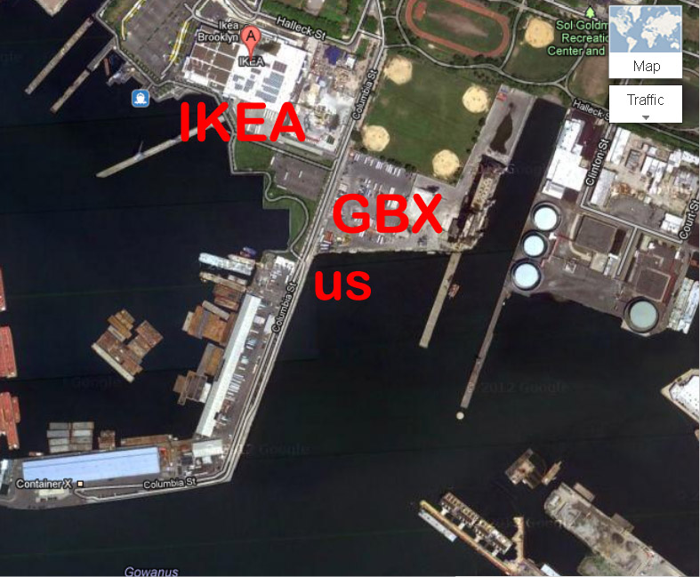 GBX w/our potential home marked