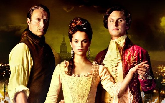 The threesome from A Royal Affair