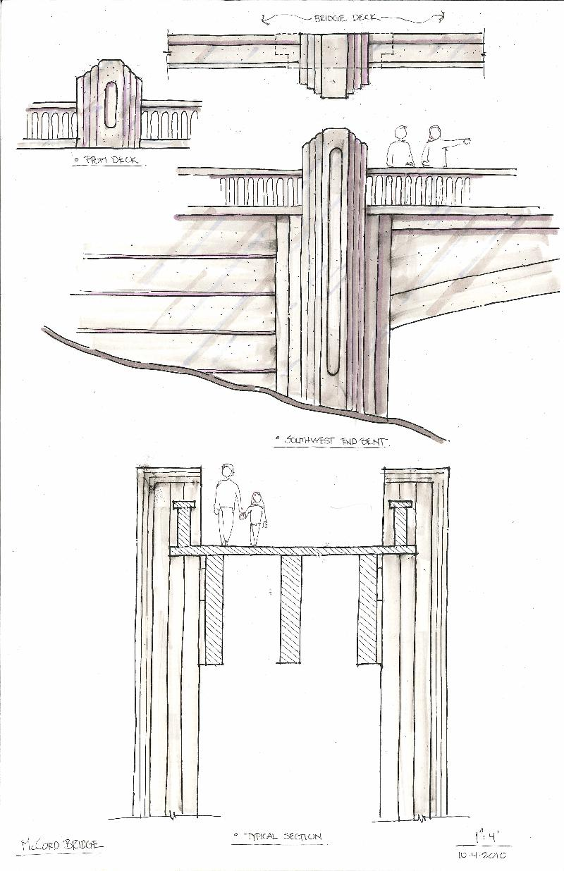 McCord Creek Bridge Details