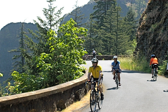 Bicyclists on HCRH