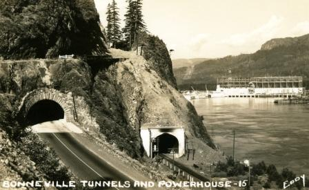Bonneville Dam and tunnels