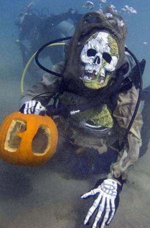 pumpkin carving monster