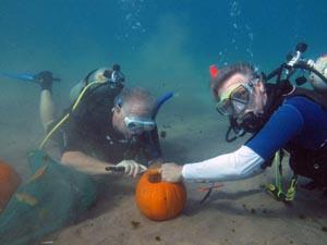 Underwater Pumpkin Carving Team