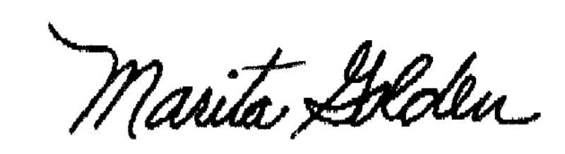 Marita's Signature