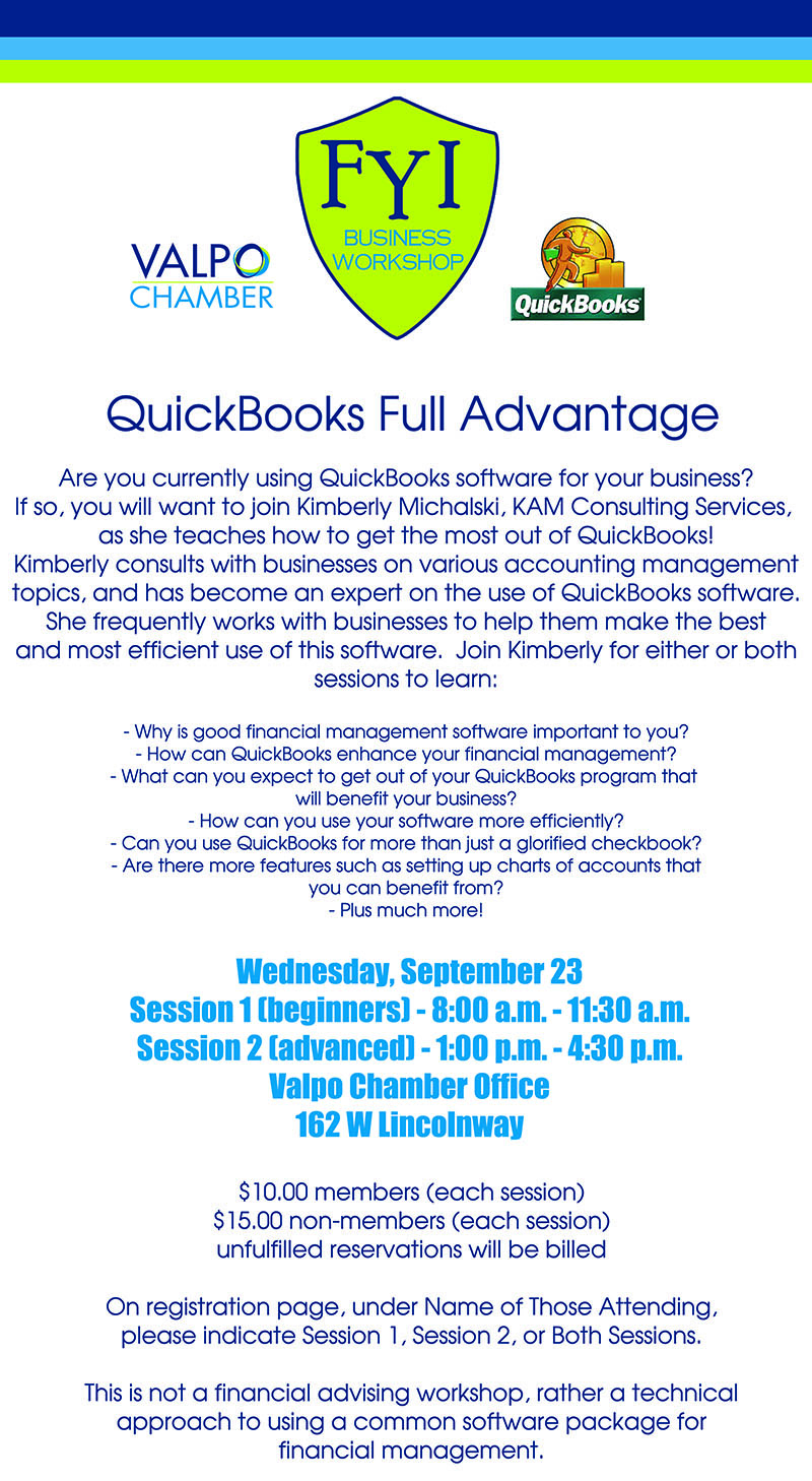 FYI QuickBooks Workshop