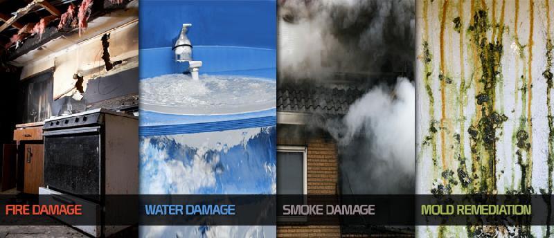 fire water mold smoke