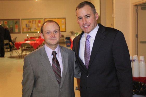 Dan Bourdeau and Mayor Wild