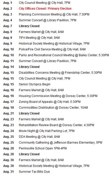 August Dates