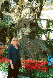 Barbara next to Inspiring Tree