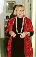 Barbara in a red cape