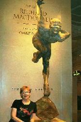 Barbara w/statue