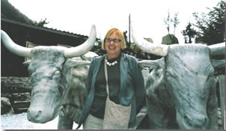 Barbara with the Bulls