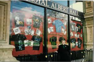 Barbara in front of Royal Albert