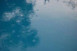 raindrops on pool