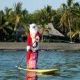Hawaiian Santa Paddleboarding