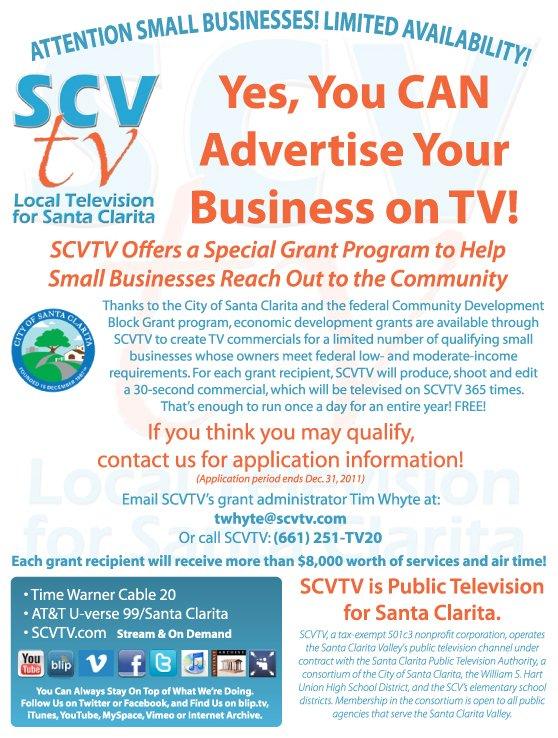 SCVTV Seeks Small Business Grant Applicants