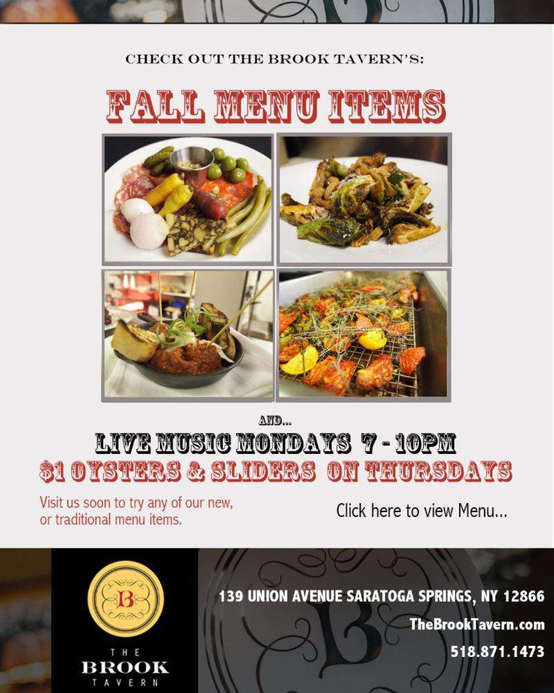 The Brook Tavern Fall Menu