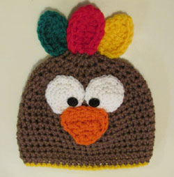 Crochet Turkey Cat Hat Pattern : Its Turkey Time! A crochet hat kit!