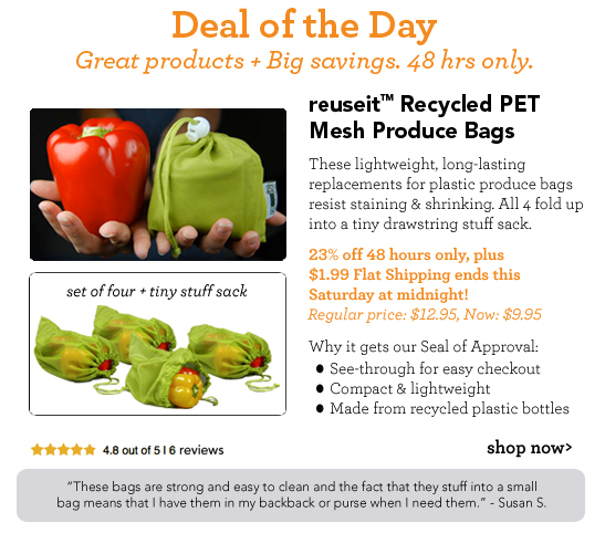 Deal of the Day reuseit rPET Mesh Produce Bags, Set of 4