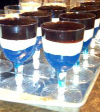 Red, white, and blue Jell-O Desserts