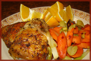 Roast Chicken Thighs & Vegetables