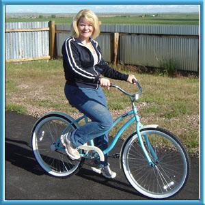 Kaye Bailey & New Bike