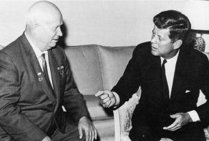 JFK meets with Khrushchev
