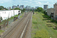 rail tracks to Boston