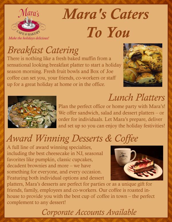 Corner Bakery Hours Of Operation >> Mara's Cafe & Bakery November Newsletter!