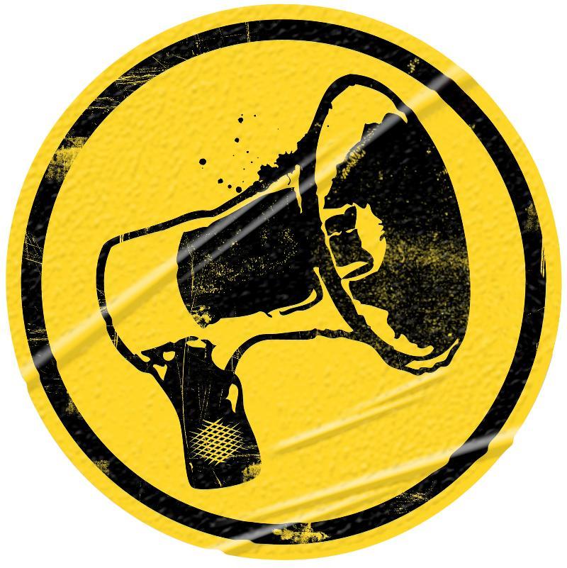Megaphone Yellow & Black
