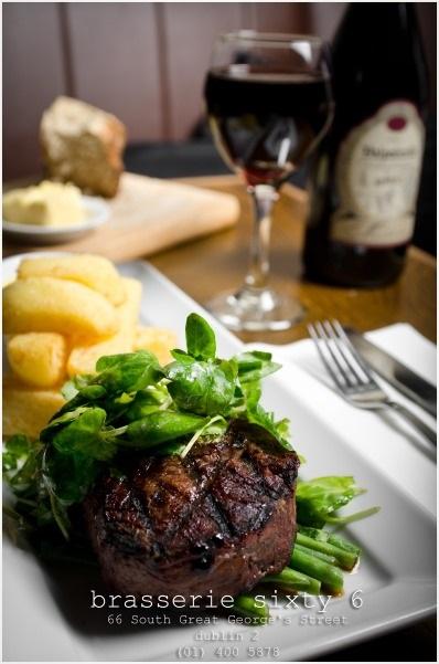 Fillet Steak in Brasserie Sixty6 Restaurant Dublin