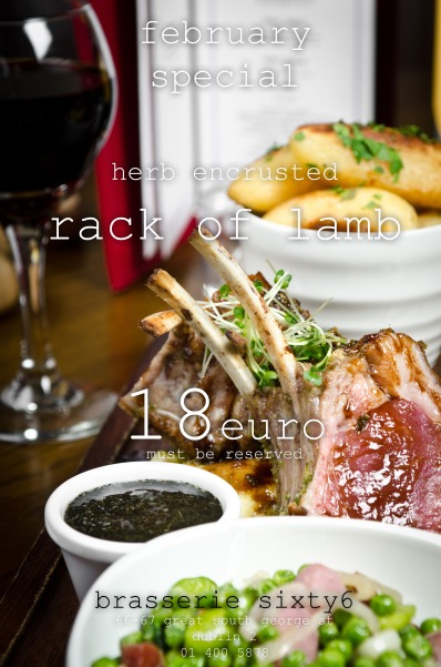 February lamb special at Sixty6