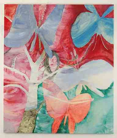 Kyoko Murase, Nap in Ruby Red, 2006, oil on cotton
