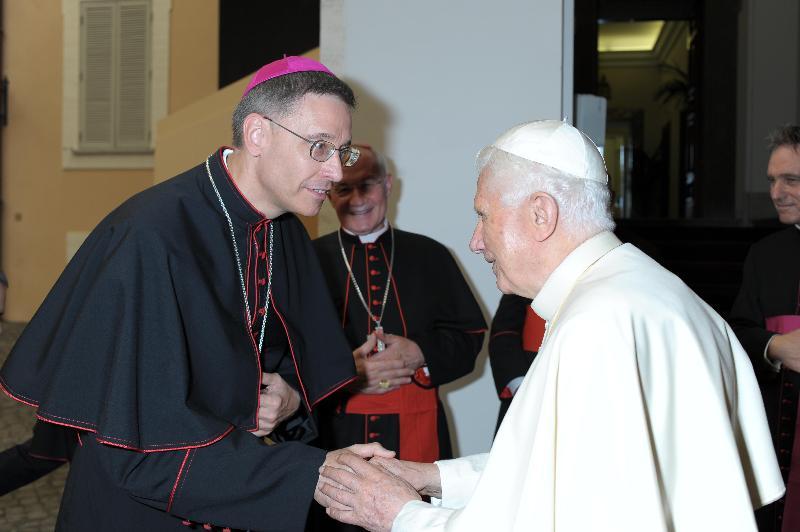 Bishop Mark and Pope Benedict