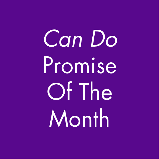 Can Do Promise Of The Month