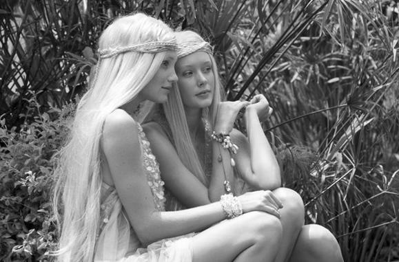 two garden fairies