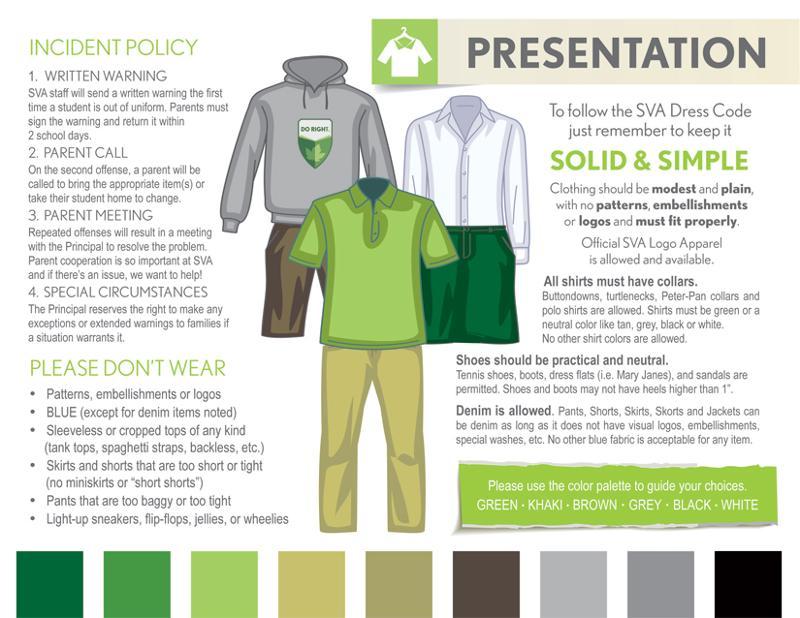 SVA Uniform Dress Visual Reference Guide