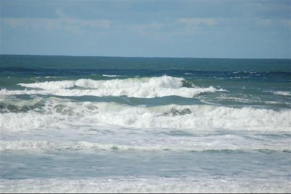 Waves crashing on San Francisco beach
