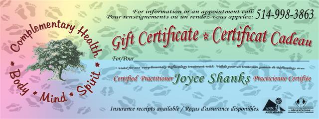 Gift Certificate Reflexology