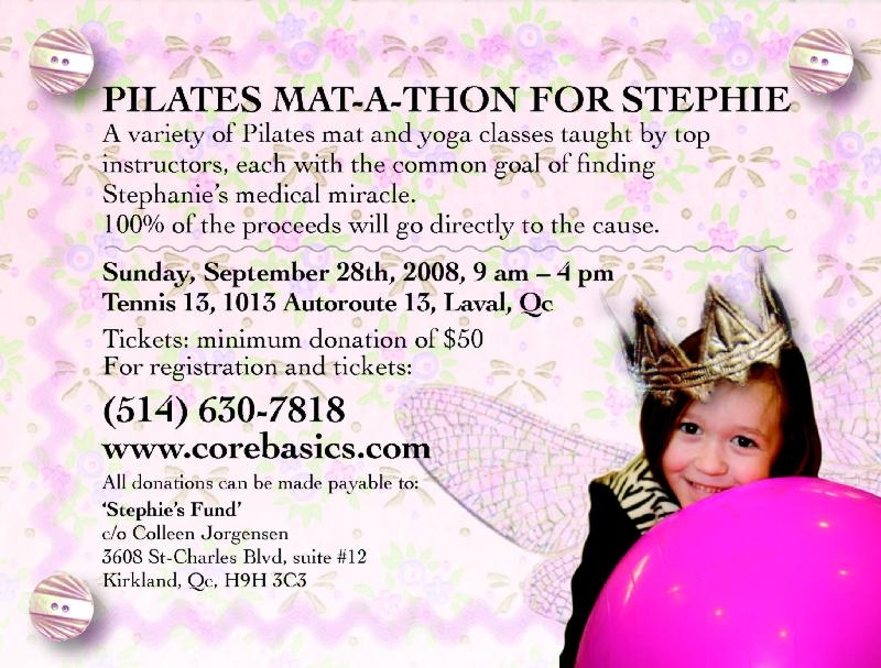 Pilates Mat-a-Thon Poster for Stephie