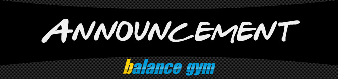 Balance Gym Announcement