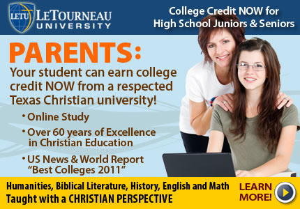 LeTU offers college credit for HS juniors and seniors.