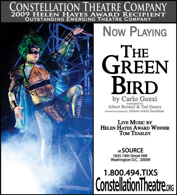 NOW PLAYING!  THE GREEN BIRD
