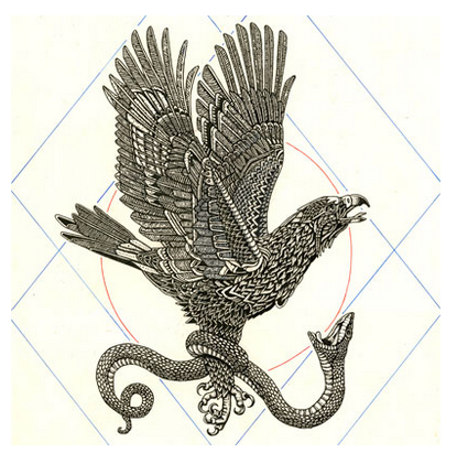 Artwork: Eagle & Snake by Nick Schmid