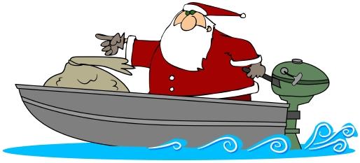 Santa in Boat