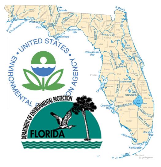 Florida map w EPA DEP logos