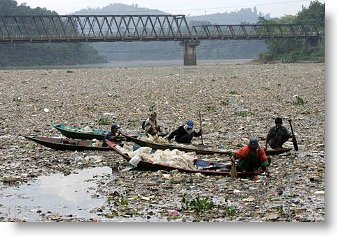 Citarum River, Java, Indonesia