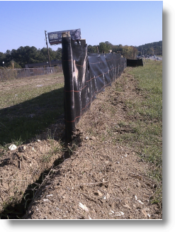 CPOP Silt Fence Properly Installed